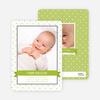 Classic Ribbon Frame Photo Birth Announcement - Pesto