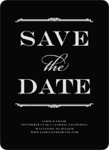 Classic Type Save the Dates - Black Board