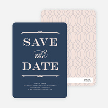 Classic Type Save the Dates - Mystic Blue