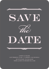 Classic Type Save the Dates - Toupee