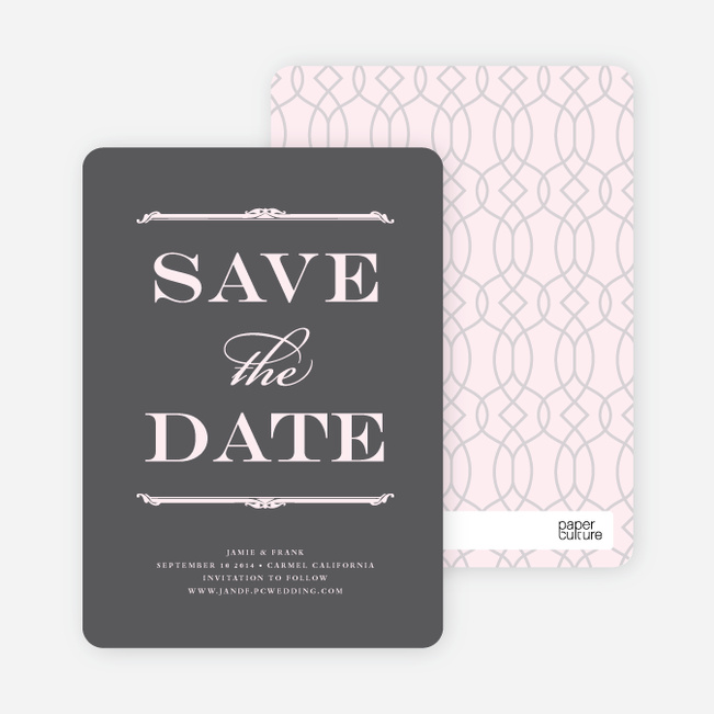 Classic Type Save the Date Cards - Toupee