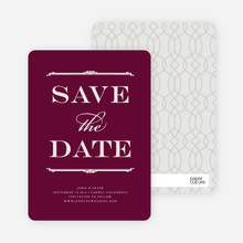 Classic Type Save the Date Cards - Sangria