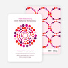 Colorful Dots Baby Shower Invitations - Fuchsia