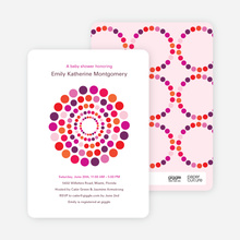 Dots Baby Shower Invitations - Fuchsia