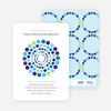 Colorful Dots Baby Shower Invitations - Rich Blue