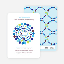 Dots Baby Shower Invitations - Rich Blue