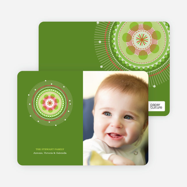 Colorful Holiday Photo Cards - Bamboo