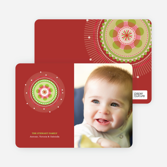 Colorful Holiday Photo Cards - Burgundy