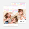 Colorful Type Holiday Photo Cards - Cotton Candy