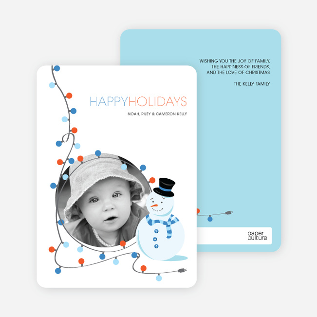 Dee Light Full Holiday Greetings - Vista Blue