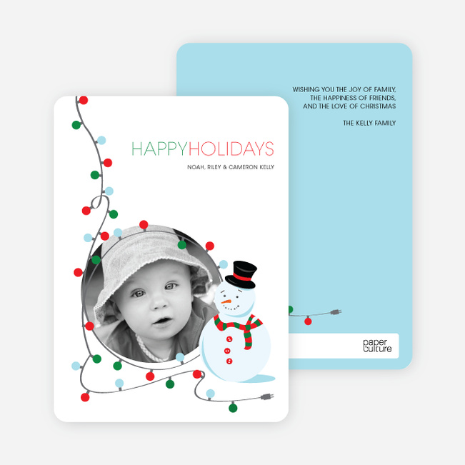 Dee Light Full Holiday Greetings - Tomato Red
