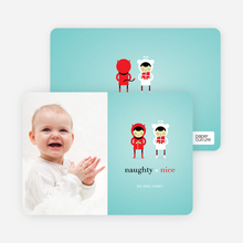 Devil and the Angel Holiday Photo Cards - Vista Blue
