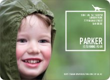 Dinosaur Themed Birthday Party Invitation - White
