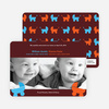 Double Trouble Strollers Baby Announcements - Dark Chocolate