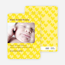 Duck Wallpaper Birth Announcements - Yellow