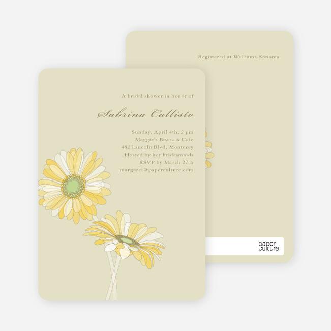 Elegant Flowers Bridal Shower Invitations - Dirty Blonde