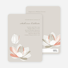 Elegant Flowers Bridal Shower Invitations - Lotus Beige