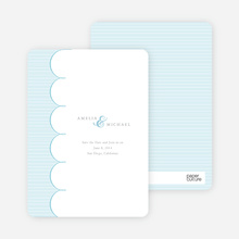Elegant Save the Date Cards with a Cloud Theme - Purity
