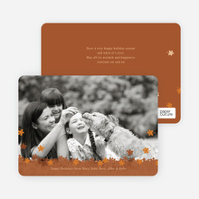 Fall Themed Photo Cards - Terra Cotta