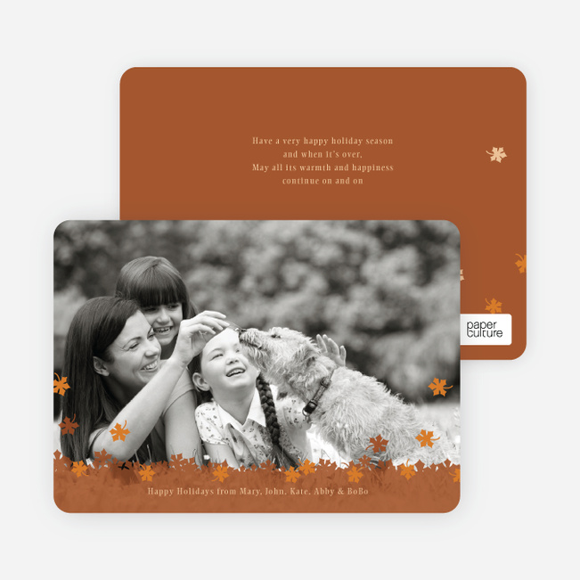 Fall Themed Photo Cards - Terra Cotta