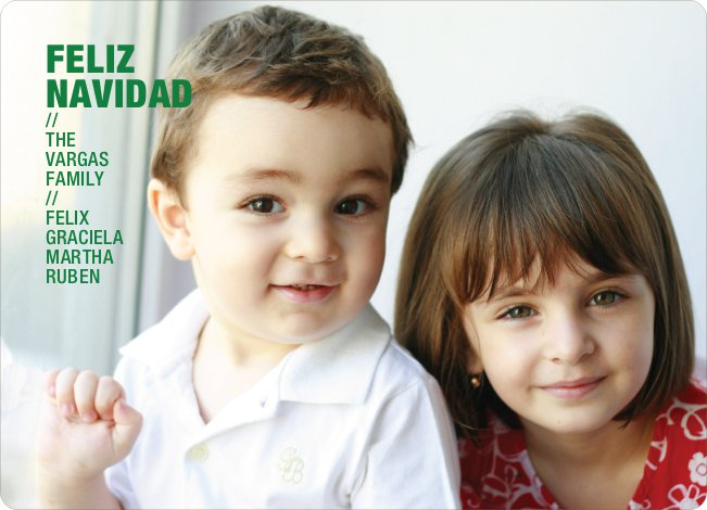 Feliz Navidad Holiday Photo Cards - Forest Green