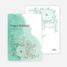 Floral Elegance Holiday Greetings - Mint