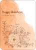 Floral Elegance Holiday Greetings - Peach