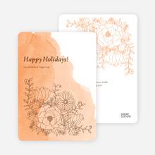 Floral Elegance Holiday Greetings - Peach