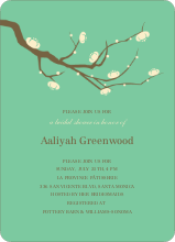 Flower Wedding Shower Invites - Emerald Green