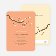 Flower Themed Wedding Shower Invitations - Apricot
