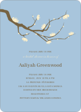 Flower Themed Wedding Shower Invitations - Periwinkle Blue