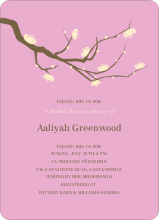 Flower Wedding Shower Invites - Lavender