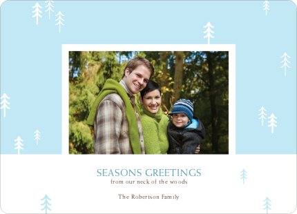 Forest from the Trees: Season's Greetings - Baby Blue
