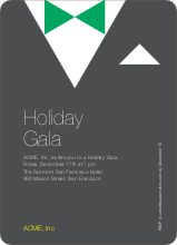 Formal Holiday Party Invitation - Charcoal