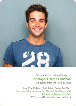 Formulas, Letters and Names Graduation Invitations - Pistachio