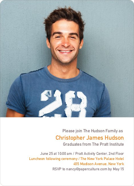 Formulas, Letters and Names Graduation Invitations - Carrot