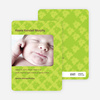 Photo Birth Announcements: Frog Wallpaper - Light Lime