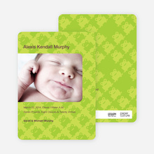 Frog Wallpaper Birth Announcements - Light Lime