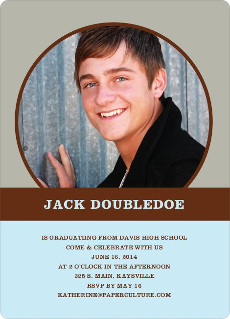 Fun Graduation Announcements - Baby Blue