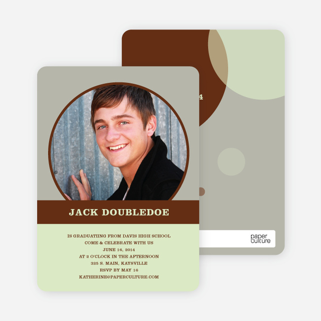 Fun Graduation Announcements - Mint Green