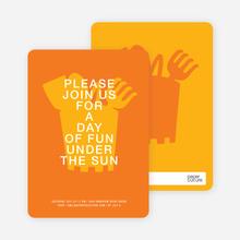 Fun in the Sun invitations - Orange Sherbert