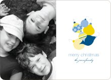 Fun Modern Ornaments Holiday Photo Card - Navy
