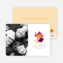 Fun Modern Ornaments Holiday Photo Card - Grape