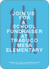 Fundraiser invitations - Blue Water