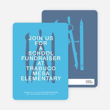 Fundraiser invitations - Blue Water