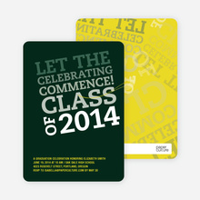 Graduation Announcements: Let the Celebrating Commence - Forest Green