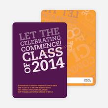 Graduation Announcements: Let the Celebrating Commence - Violet