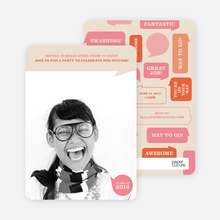 Graduation Bubbles Invitations - Pink Chaos