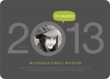 Graduation Cutout Invitations - Gun Metal