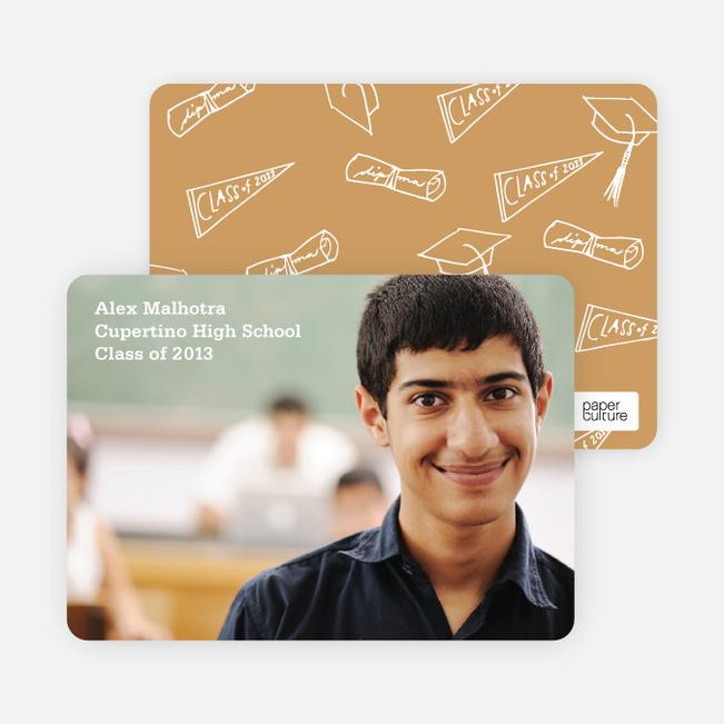 Graduation Icons Invitations - Carrot Juice
